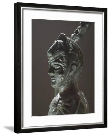 Bronze Depicting Hercules in Battle, Detail of the Head, from the Sanctuary of Villa Cassarini--Framed Giclee Print