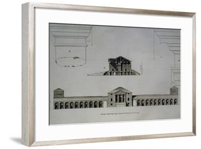 Drawing and Section of Villa Emo Capodilista, Near Padua--Framed Giclee Print