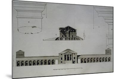 Drawing and Section of Villa Emo Capodilista, Near Padua--Mounted Giclee Print