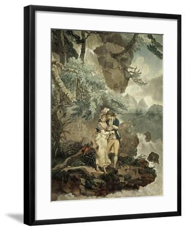 Illustration by Wheatley for the Nouvelle Heloise, 1761, Epistolary Novel by Jean-Jacques Rousseau--Framed Giclee Print