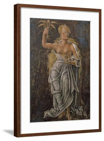 Dean, Detail Virgin of the Sign, Scene from Month of August, Attributed to Cosimo Tura--Framed Giclee Print