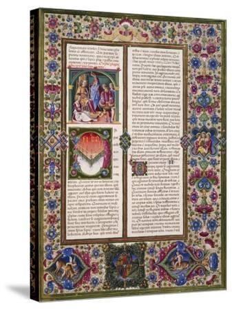 The Book of Wisdom, from Volume I of Bible of Borso D'Este--Stretched Canvas Print