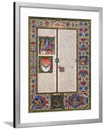 The Book of Wisdom, from Volume I of Bible of Borso D'Este--Framed Giclee Print