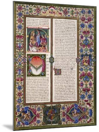 The Book of Wisdom, from Volume I of Bible of Borso D'Este--Mounted Giclee Print
