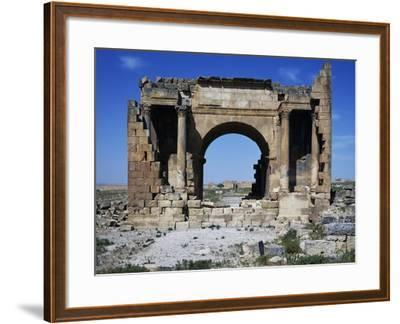 Triumphal Arch of Septimius Severus Dedicated in 195 Ad in Ancient Roman City of Ammaedara--Framed Giclee Print