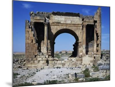 Triumphal Arch of Septimius Severus Dedicated in 195 Ad in Ancient Roman City of Ammaedara--Mounted Giclee Print