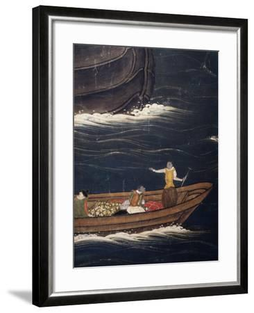 Vessel, Detail from Portuguese Arriving in Japan, Paper Screen, Japan--Framed Giclee Print