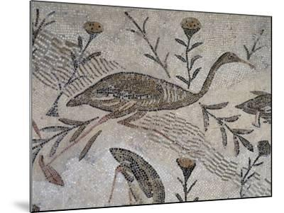 Ducks and Flowers, Detail from Mosaic Depicting Nilotic Landscape, Uncovered in Thysdrus--Mounted Giclee Print