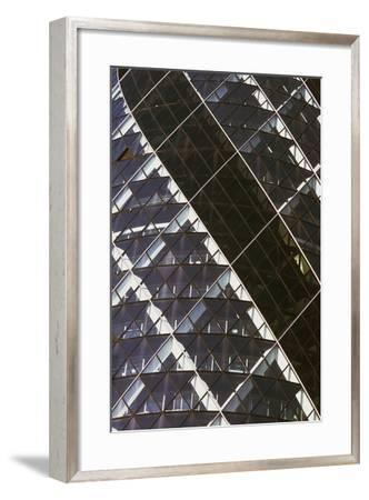 Exterior View of Mirrored Windows of 30 St Mary Axe, Formerly known as Swiss Re Building--Framed Giclee Print