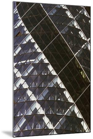Exterior View of Mirrored Windows of 30 St Mary Axe, Formerly known as Swiss Re Building--Mounted Giclee Print