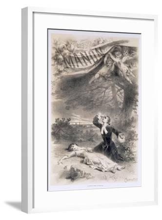France, Paris, Playbill by Antonin Marie Chatiniere of the Opera Manon--Framed Giclee Print