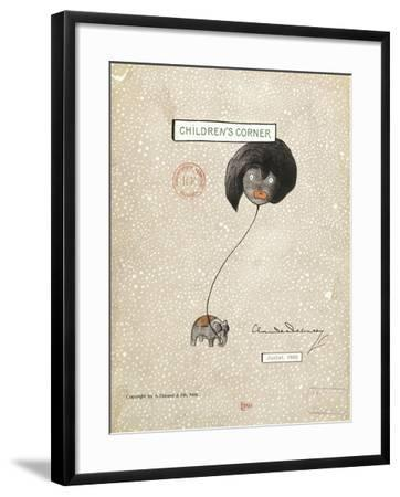 Cover of First Edition of Score for Children's Corner, Suite for Solo Piano by Claude Debussy--Framed Giclee Print