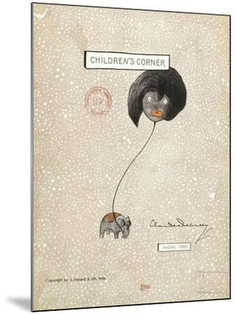 Cover of First Edition of Score for Children's Corner, Suite for Solo Piano by Claude Debussy--Mounted Giclee Print
