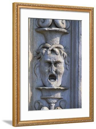 Mask, Detail of the Decoration from the Entrance to the Cathedral of Saint John the Baptist--Framed Giclee Print
