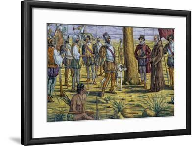 Mendoza Foundation, Polychrome Ceramic, Monument to Brotherhood Between Spain and Argentina--Framed Giclee Print