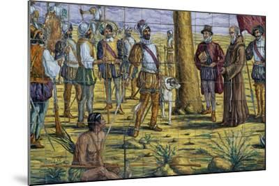 Mendoza Foundation, Polychrome Ceramic, Monument to Brotherhood Between Spain and Argentina--Mounted Giclee Print