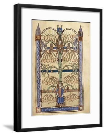 France, Genealogical Tree of the Virgin Mary, Miniature from the Manuscript Speculum Virginae--Framed Giclee Print