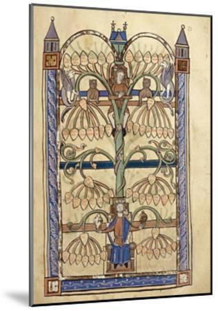 France, Genealogical Tree of the Virgin Mary, Miniature from the Manuscript Speculum Virginae--Mounted Giclee Print