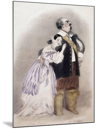 Giulia Grisi and Luigi Lablache in Roles of Elvira and George in Premiere of Opera I Puritani--Mounted Giclee Print