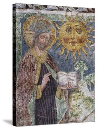 Hrastovlje Fortified Church, Trinity Church, Genesis, God Creates Sun, Moon and Stars--Stretched Canvas Print