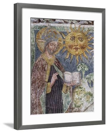 Hrastovlje Fortified Church, Trinity Church, Genesis, God Creates Sun, Moon and Stars--Framed Giclee Print
