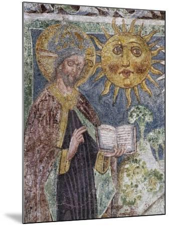 Hrastovlje Fortified Church, Trinity Church, Genesis, God Creates Sun, Moon and Stars--Mounted Giclee Print