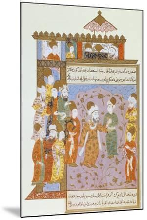 Mevlana Warns His Son, Sultan Veled, About Sin, Ottoman Miniature from Mevlana Rumi's Memoirs--Mounted Giclee Print