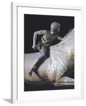 The Jockey of Artemision, Hellenistic Bronze Statue Found Near Cape Artemisio in Evia--Framed Giclee Print
