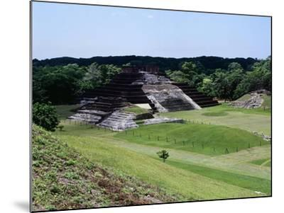 Temple I with the Pyramid Surmounted by a Temple and a View of the Northern Area, Camalcalcoo--Mounted Giclee Print