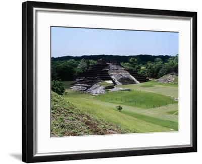Temple I with the Pyramid Surmounted by a Temple and a View of the Northern Area, Camalcalcoo--Framed Giclee Print