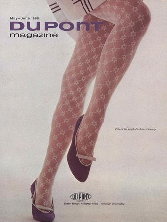 Fibres for High-Fashion Hosiery, Front Cover of 'The Du Pont Magazine', May-June 1968--Framed Giclee Print