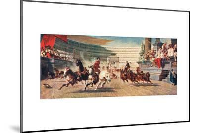 A Roman Chariot Race, Illustration from 'Hutchinson's History of the Nations'--Mounted Giclee Print