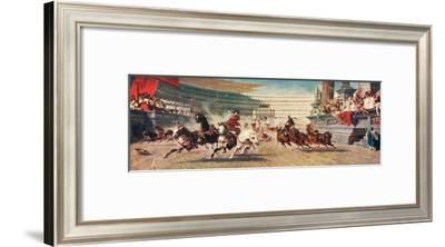 A Roman Chariot Race, Illustration from 'Hutchinson's History of the Nations'--Framed Giclee Print