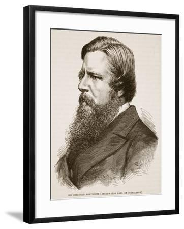 Sir Stafford Northcote, Illustration from 'Cassell's Illustrated History of England'--Framed Giclee Print