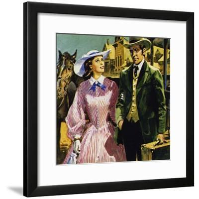 Audubon Moved to America Where He Fell in Love with Lucy Bakewell and Married--Framed Giclee Print