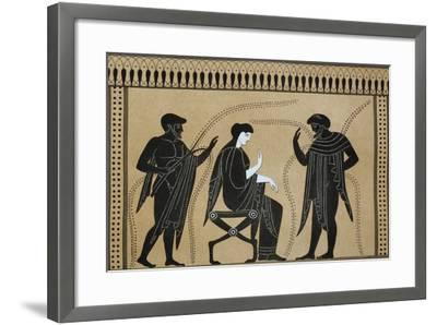Iphigenia Between Orestes and Paris, from the Collection of Greek Vases by Mr. Le Comte De Lamburg--Framed Giclee Print