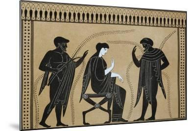 Iphigenia Between Orestes and Paris, from the Collection of Greek Vases by Mr. Le Comte De Lamburg--Mounted Giclee Print
