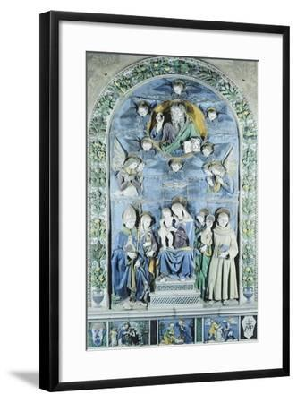 Italy, Arezzo, Cathedral, Madonna and Child with Four Saints, from Workshop of Andrea Della Robbia--Framed Giclee Print