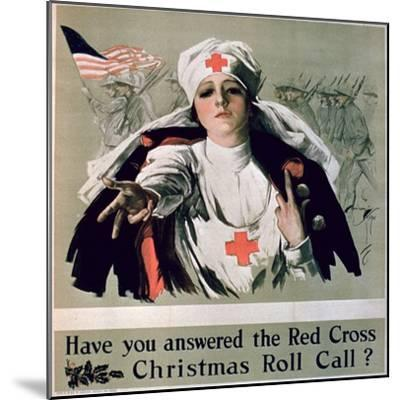 Have You Answered the Red Cross Christmas Roll Call?', 1st World War Poster--Mounted Giclee Print