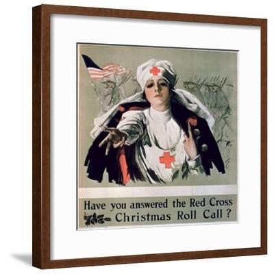 Have You Answered the Red Cross Christmas Roll Call?', 1st World War Poster--Framed Giclee Print