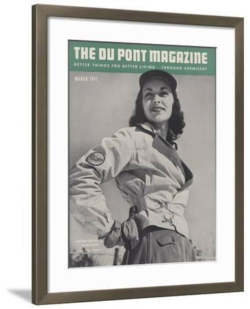 Water-Repellent Garments, Front Cover of 'The Du Pont Magazine', March 1941--Framed Giclee Print