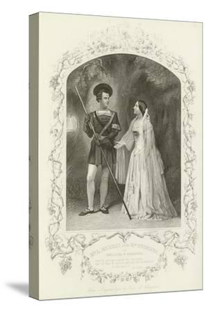 Mr L Murray and Mrs Stirling as Orlando and Rosalind, as You Like It, Act V, Scene IV--Stretched Canvas Print