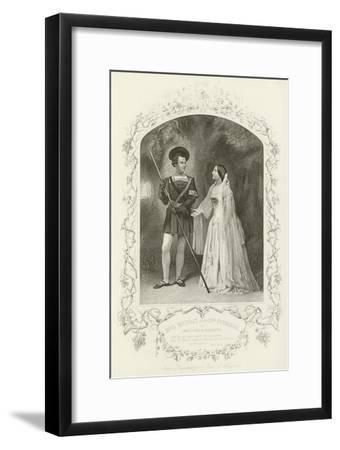 Mr L Murray and Mrs Stirling as Orlando and Rosalind, as You Like It, Act V, Scene IV--Framed Giclee Print