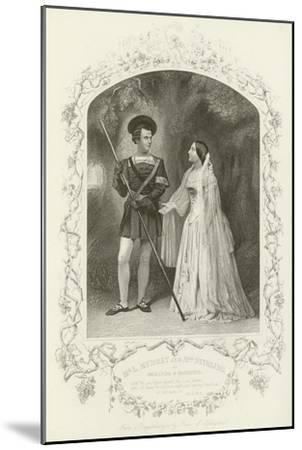 Mr L Murray and Mrs Stirling as Orlando and Rosalind, as You Like It, Act V, Scene IV--Mounted Giclee Print
