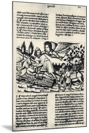 Illustration Depicting Abraham Who Is Asked by God to Sacrifice His Son Isaac--Mounted Giclee Print