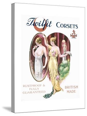 Twilfit Corsets, Underwear Advertisement, Pub. by David Allen and Sons Ltd., 1920--Stretched Canvas Print