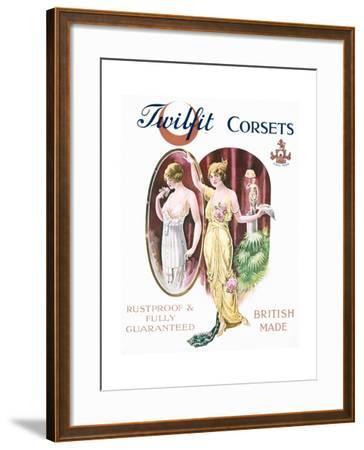 Twilfit Corsets, Underwear Advertisement, Pub. by David Allen and Sons Ltd., 1920--Framed Giclee Print