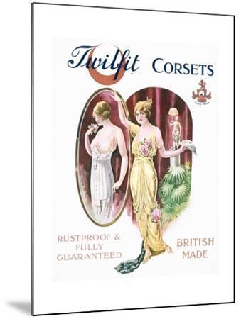 Twilfit Corsets, Underwear Advertisement, Pub. by David Allen and Sons Ltd., 1920--Mounted Giclee Print