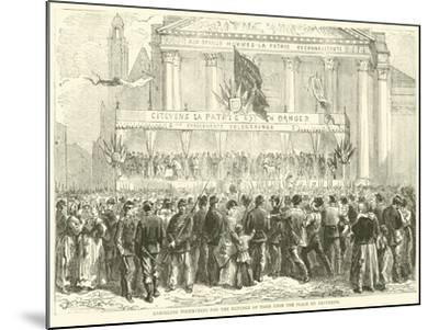Enrolling Volunteers for the Defence of Paris Upon the Place Du Pantheon, October 1870--Mounted Giclee Print