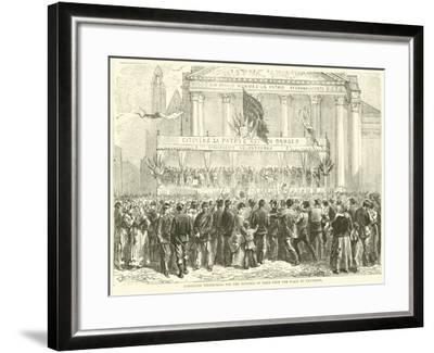 Enrolling Volunteers for the Defence of Paris Upon the Place Du Pantheon, October 1870--Framed Giclee Print